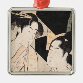 Fan Vendor Kitagawa Utamaro  japanese ladies Metal Ornament