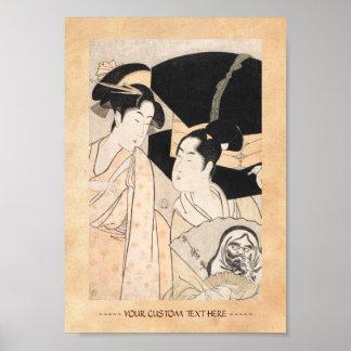 Fan Vendor Kitagawa Utamaro  japanese ladies Poster
