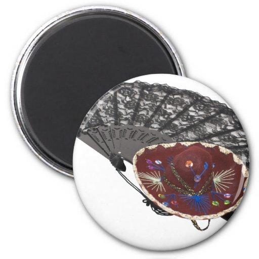 FanAndSombrero042810 2 Inch Round Magnet