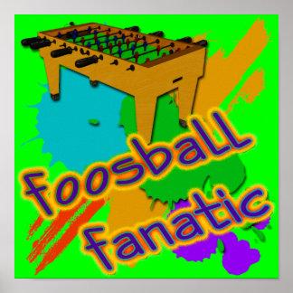 Fanático de Foosball Poster