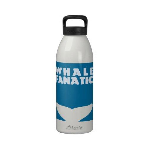 Fanático de la ballena botella de agua reutilizable