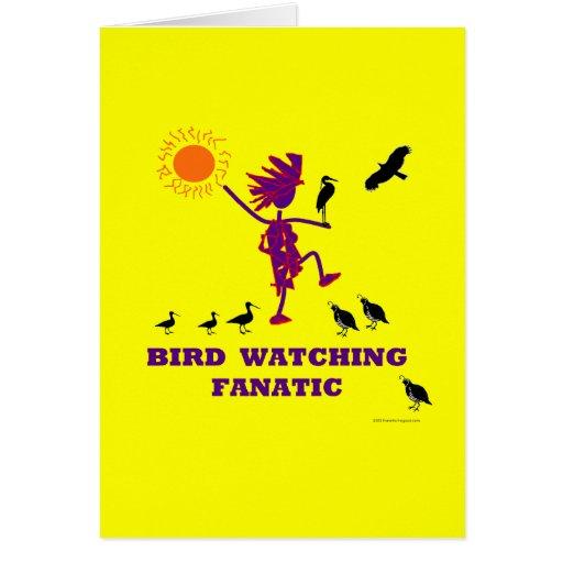 Fanático de la observación de pájaros tarjeta de felicitación