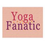 Fanático de la yoga tarjetas postales