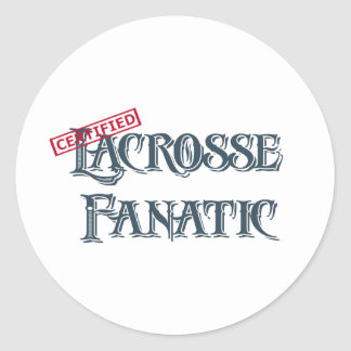 Fanático de LaCrosse Pegatina Redonda