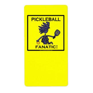 Fanático de Pickleball Etiqueta De Envío