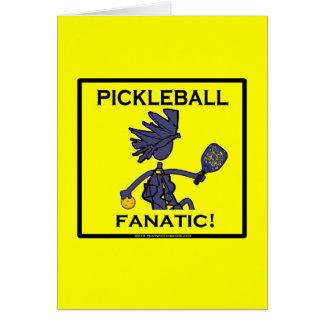 Fanático de Pickleball Tarjeta De Felicitación