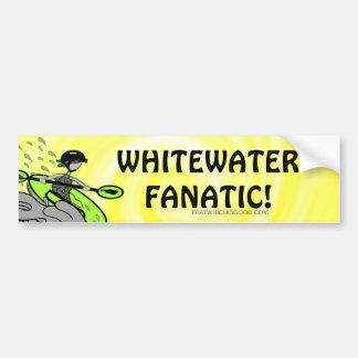 ¡Fanático de Whitewater! Pegatina Para Auto