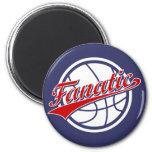 Fanático del baloncesto imán para frigorifico