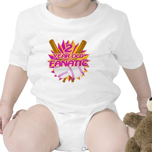 Fanático del béisbol de 2 años traje de bebé
