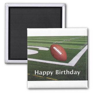 Fanático del fútbol del feliz cumpleaños imán cuadrado