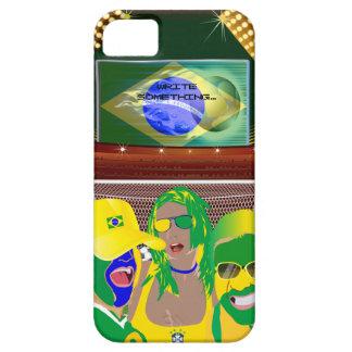 Fanático del fútbol del fútbol del Brasil iPhone 5 Carcasa