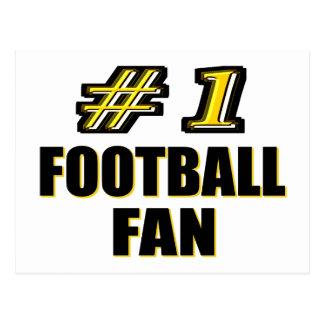 Fanático del fútbol del número uno postales