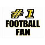 Fanático del fútbol del número uno tarjeta postal