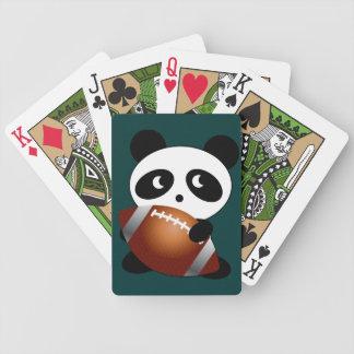 Fanático del fútbol del oso de panda barajas
