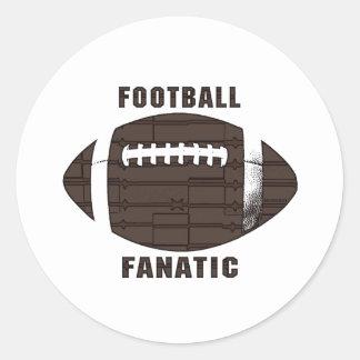 Fanático del fútbol por los estudios de Mudge Etiquetas Redondas