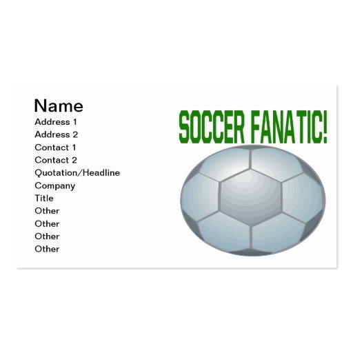 Fanático del fútbol tarjetas de visita