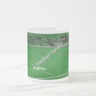 Fanático del fútbol taza de cristal