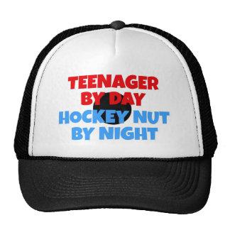 Fanático del hockey del adolescente gorros