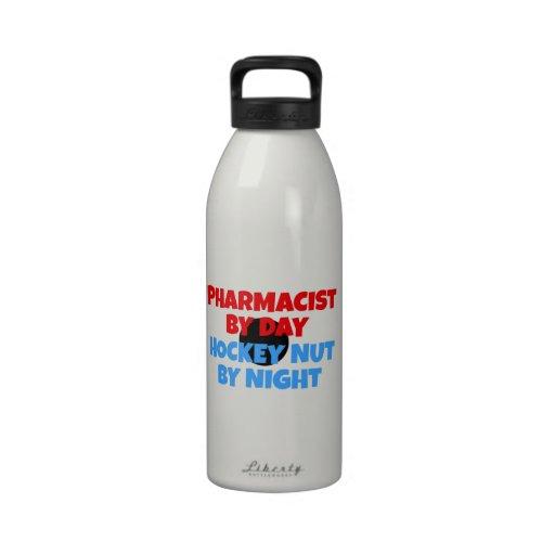 Fanático del hockey del farmacéutico botellas de beber
