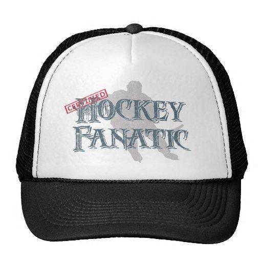 Fanático del hockey gorros bordados