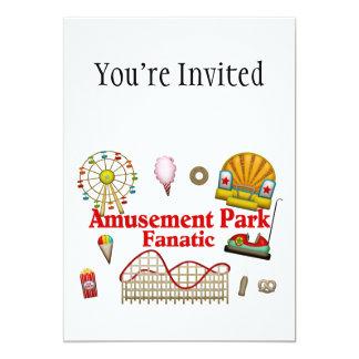 Fanático del parque de atracciones invitacion personalizada