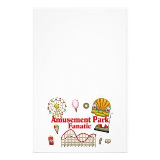 Fanático del parque de atracciones  papeleria de diseño