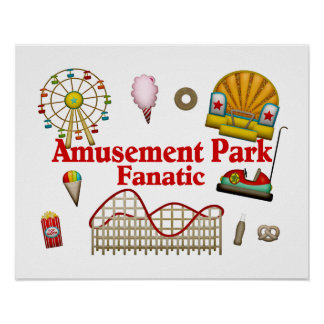 Fanático del parque de atracciones póster