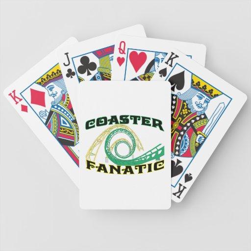 Fanático del práctico de costa baraja cartas de poker