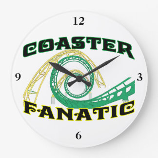 Fanático del práctico de costa reloj redondo grande
