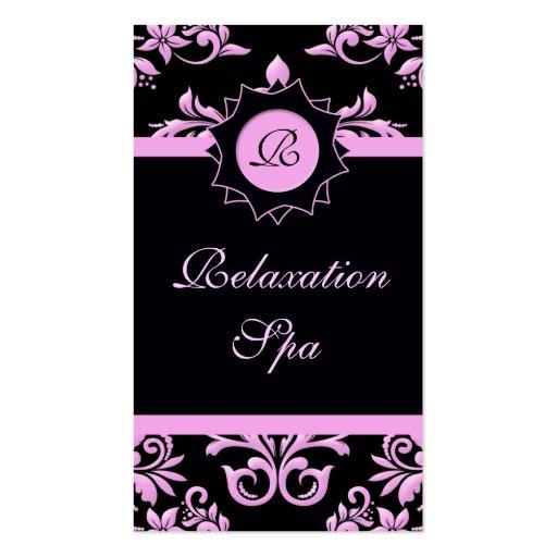 Fanático del rosa y del negro plantilla de tarjeta de negocio