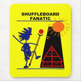 Fanático del Shuffleboard Alfombrilla De Ratón