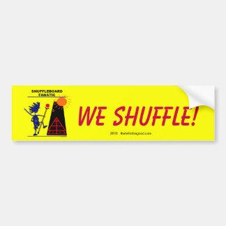 Fanático del Shuffleboard Pegatina Para Auto