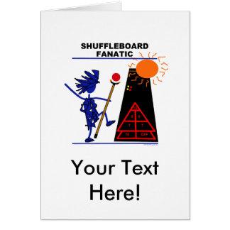 Fanático del Shuffleboard Tarjeta De Felicitación