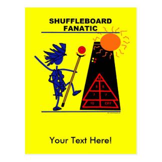 Fanático del Shuffleboard Tarjetas Postales