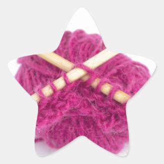 fanático que hace punto pegatina en forma de estrella