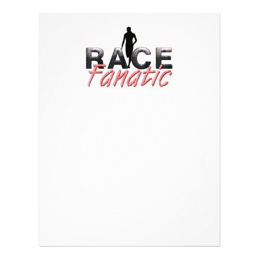 Fanático SUPERIOR de la raza de la pista Tarjetas Informativas