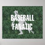 Fanático SUPERIOR del béisbol Poster