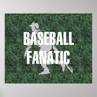Fanático SUPERIOR del béisbol Póster