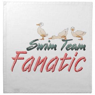Fanático SUPERIOR del equipo de natación Servilletas