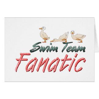 Fanático SUPERIOR del equipo de natación Felicitación