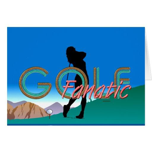 Fanático SUPERIOR del golf Tarjeton