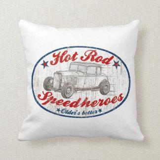 Fanáticos del coche de carreras almohadas