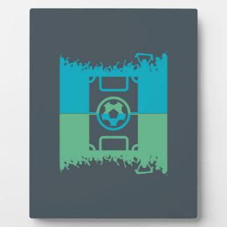Fanáticos del fútbol placas de plastico