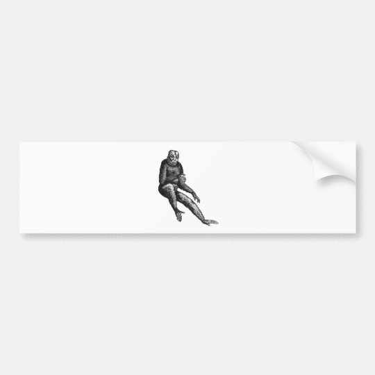 Fanciful Ape Bumper Sticker