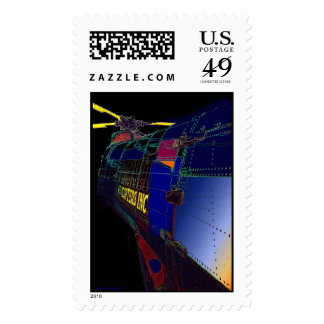Fanciful Chopper Postage Stamps