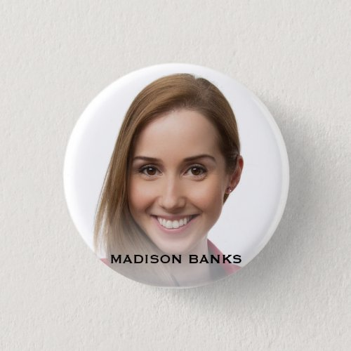 Fanciful Create Your Own Selfie Monogram Template Button