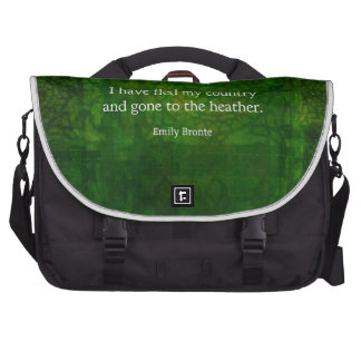 Fanciful Emily Bronte quote -  Wuthering Heights Laptop Messenger Bag