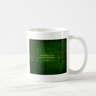 Fanciful Emily Bronte quote -  Wuthering Heights Classic White Coffee Mug