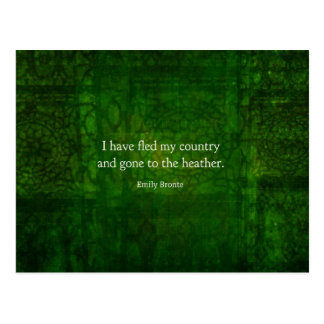 Fanciful Emily Bronte quote -  Wuthering Heights Postcard