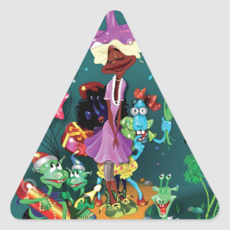 Fanciful Fairytale Triangle Sticker